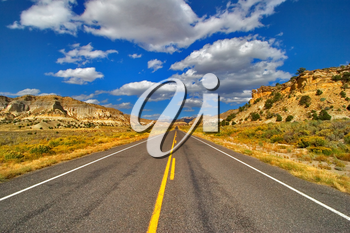 Royalty Free Photo of a Road in Utah