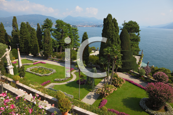 High resolution image of a picturesque park on the island of Isola Bella. Northern Italy, Lake Maggiore
