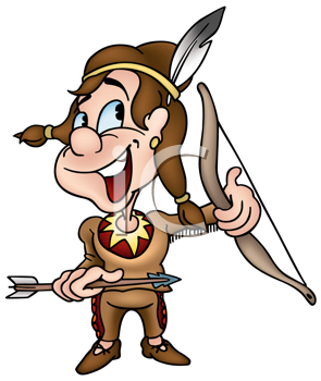 Royalty Free Clipart Image of a Native Boy