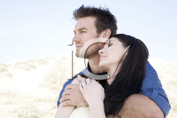 Royalty Free Photo of a Couple on the Beach