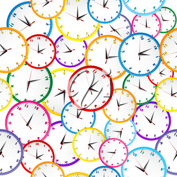 Royalty Free Clipart Image of a Clock Background #675933 | iPHOTOS com