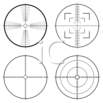 Royalty Free Clipart Image of Targets