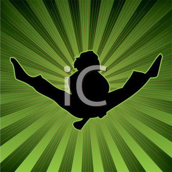 Royalty Free Clipart Image of a Person Leaping