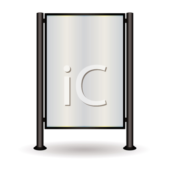 Royalty Free Clipart Image of a Mirror or Sign