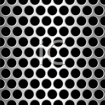 Royalty Free Clipart Image of an Aluminum Background With Holes