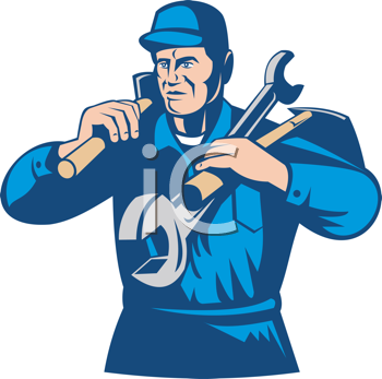 Royalty Free Clipart Image of a Tradesman