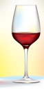 Royalty Free Clipart Image of a Wineglass