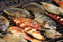 Royalty Free Photo of Fish on a Grill