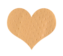 Royalty Free Photo of a Heart Shaped Bandaid