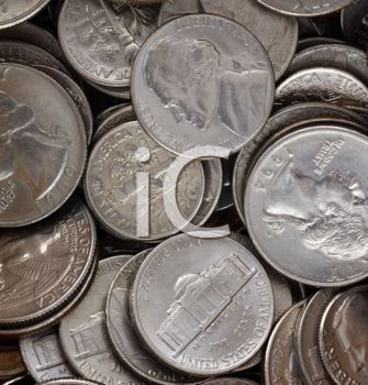 Royalty Free Photo of USA Coins