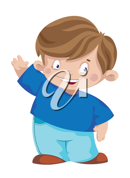 illustration of a laughing boy
