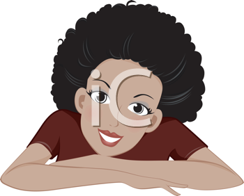 Royalty Free Clipart Image of a Portrait of an African American Woman