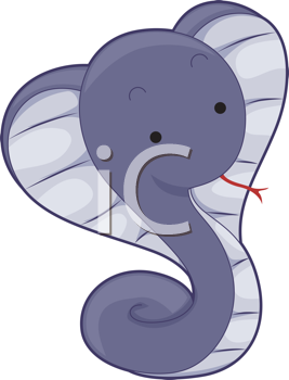 Royalty Free Clipart Image of a Cobra