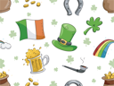 Background Illustration with a St. Patrick's Day Theme