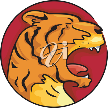 Illustration Representing the Year of the Tiger