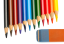 Royalty Free Photo of Pencil Crayons and an Eraser