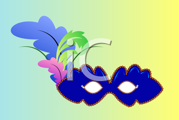 Royalty Free Clipart Image of a Carnival Mask