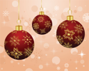 Illustration Christmas background with set balls - vector