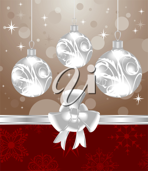 Illustration Christmas  background for design packing - vector