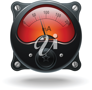 Royalty Free Clipart Image of a Meter