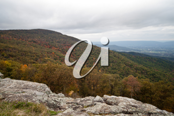 Royalty Free Photo of a Fall Landscape in the Appalachians