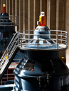 Royalty Free Photo of Generators in the Hoover Dam Powerhouse