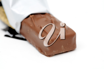 Chocolate bar isolated on the white background