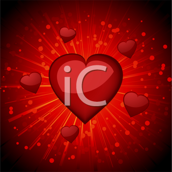 Royalty Free Clipart Image of a Heart Background