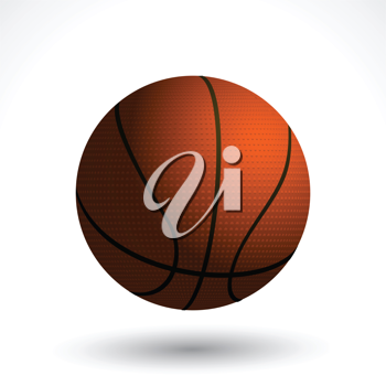 basketball background with shadow on white