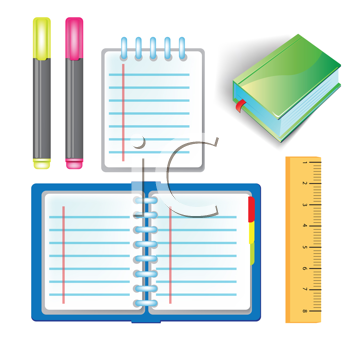Royalty Free Clipart Image of School Supplies