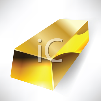 Royalty Free Clipart Image of a Gold Bar