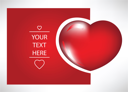 Royalty Free Clipart Image of a Heart Card With Space for Text