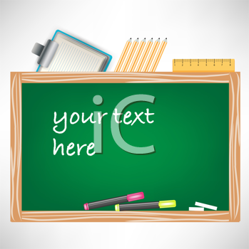 Royalty Free Clipart Image of a Chalkboard With Space for Text