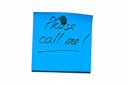 Royalty Free Photo of a Sticky Post it Note Saying