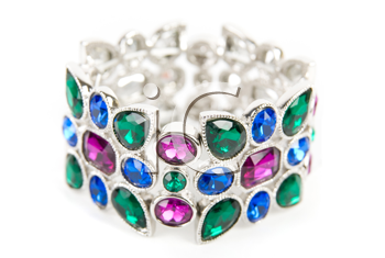 Royalty Free Photo of a Bracelet With Colorful Gems