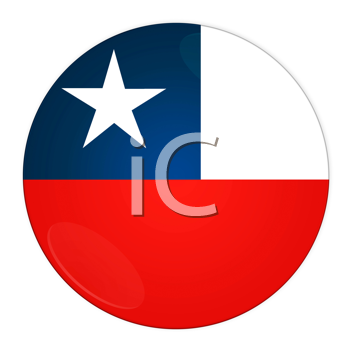 Abstract illustration: button with flag from Chile country