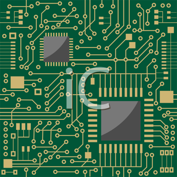 Royalty Free Clipart Image of a Circuit Board Background : #435842 ...
