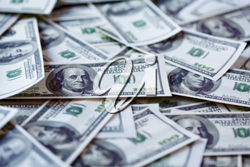 Royalty Free Photo of a Background of Hundred Dollar Bills