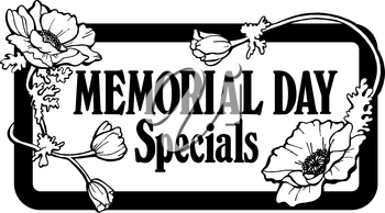 Royalty Free Clipart Image of a Memorial Day Promo