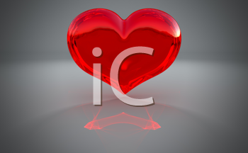 Royalty Free Clipart Image of a Red Heart Background