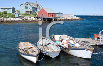 Royalty Free Photo of Peggy's Cove in Nova Scotia