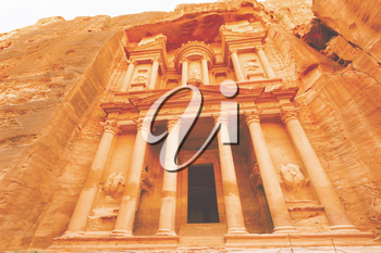 Views of the Lost City of Petra in the Jordanian desert.