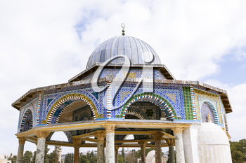 View of the Dome Of The Rock at Temple Mount in Old Jerusalem, the third holiest place in Islam.