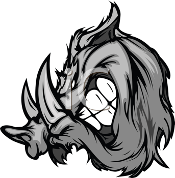 Royalty Free Clipart Image of a Boar
