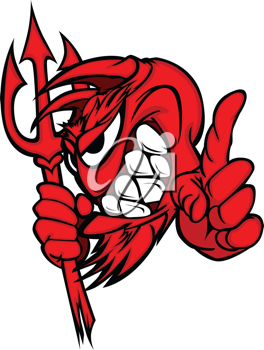 Royalty Free Clipart Image of a Devil