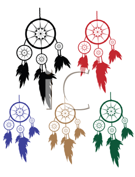 Royalty Free Clipart Image of Dream Catchers
