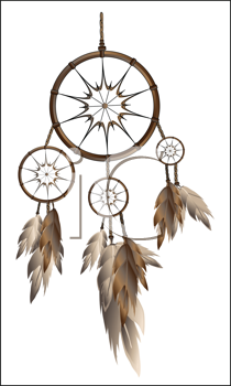 Royalty Free Clipart Image of a Dream Catcher