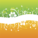 Royalty Free Clipart Image of a Floral Flourish