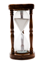 One old hourglass isolated over white