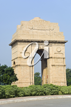Plants in front of a gateway, India Gate, New Delhi, India